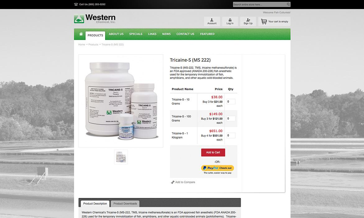 Western Chemical Product Page