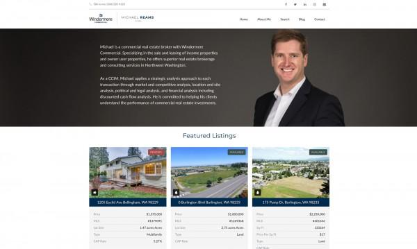 Michael Reams Commercial Real Esatate website home page