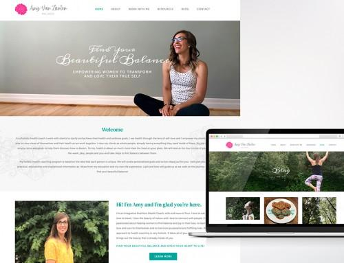 Amy Van Zanten Wellness Website Design and Development