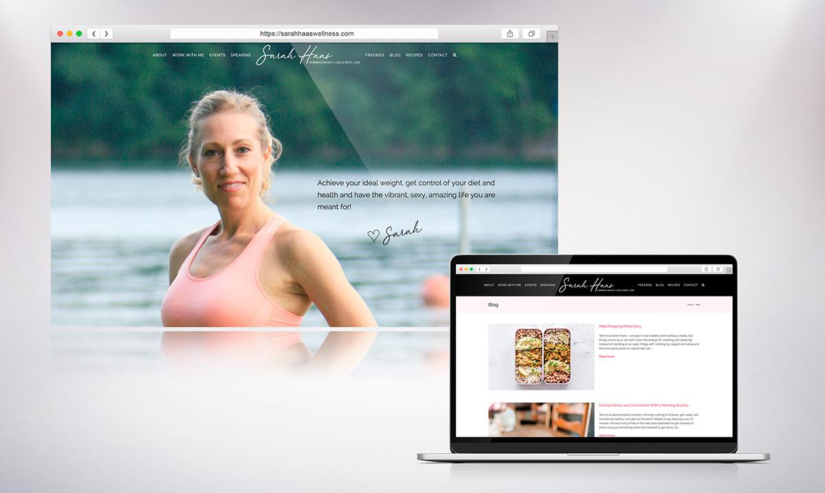 sarah haas wellness website design
