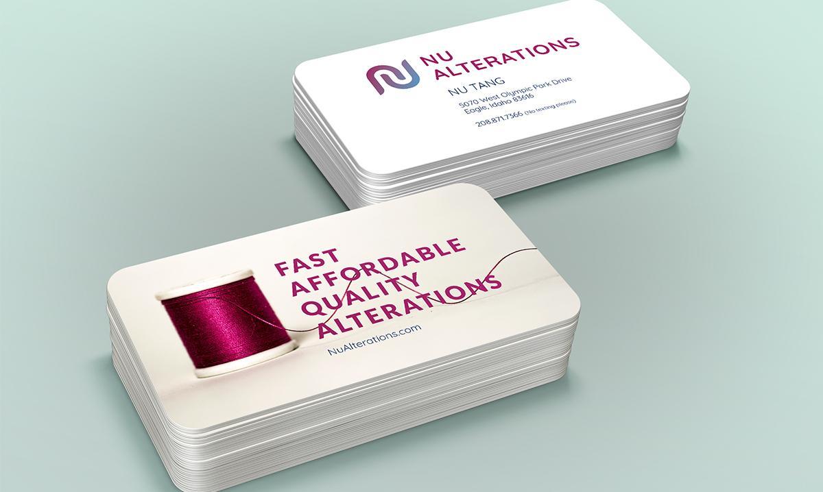 Nu Alterations Business Card Design