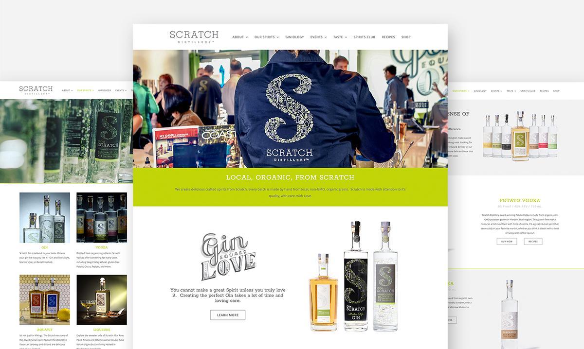 Scratch Distillery Website Design