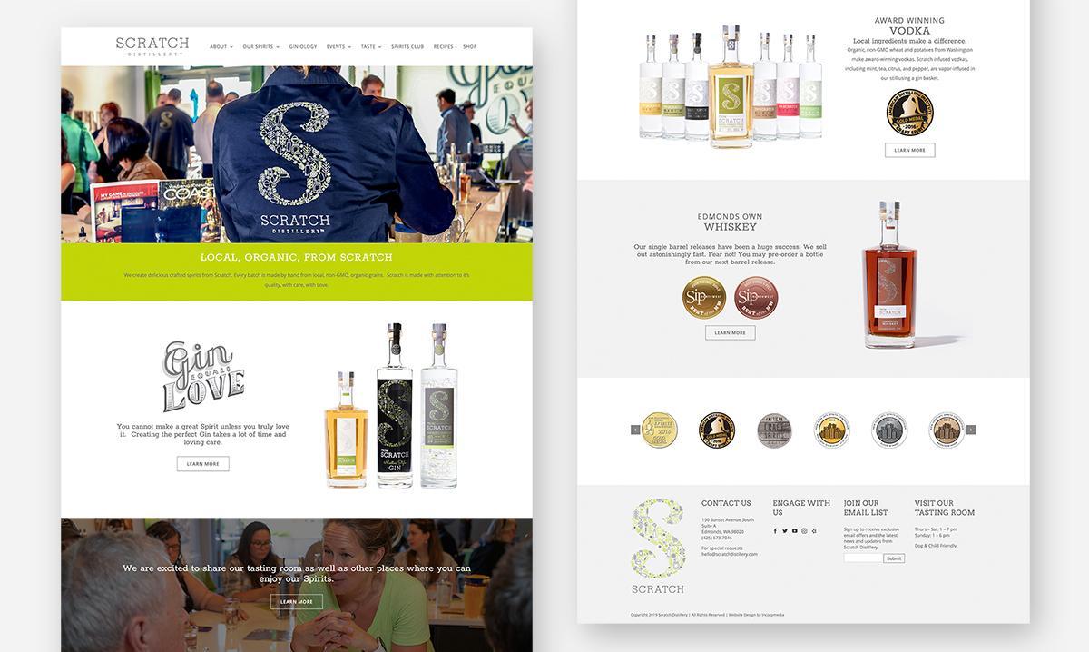 Scratch Distillery Website Design home page