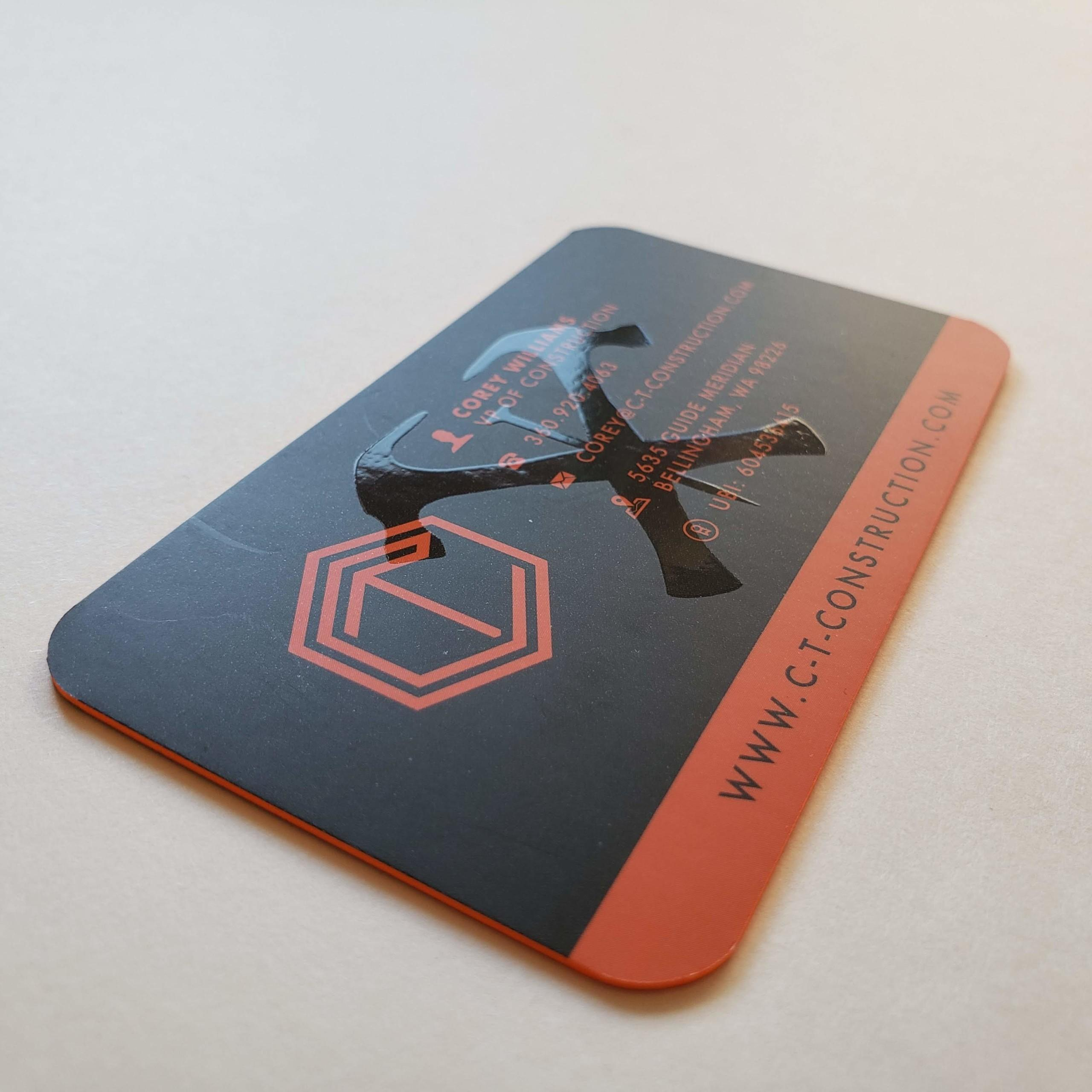 C&T Construction Business Cards UV Gloss