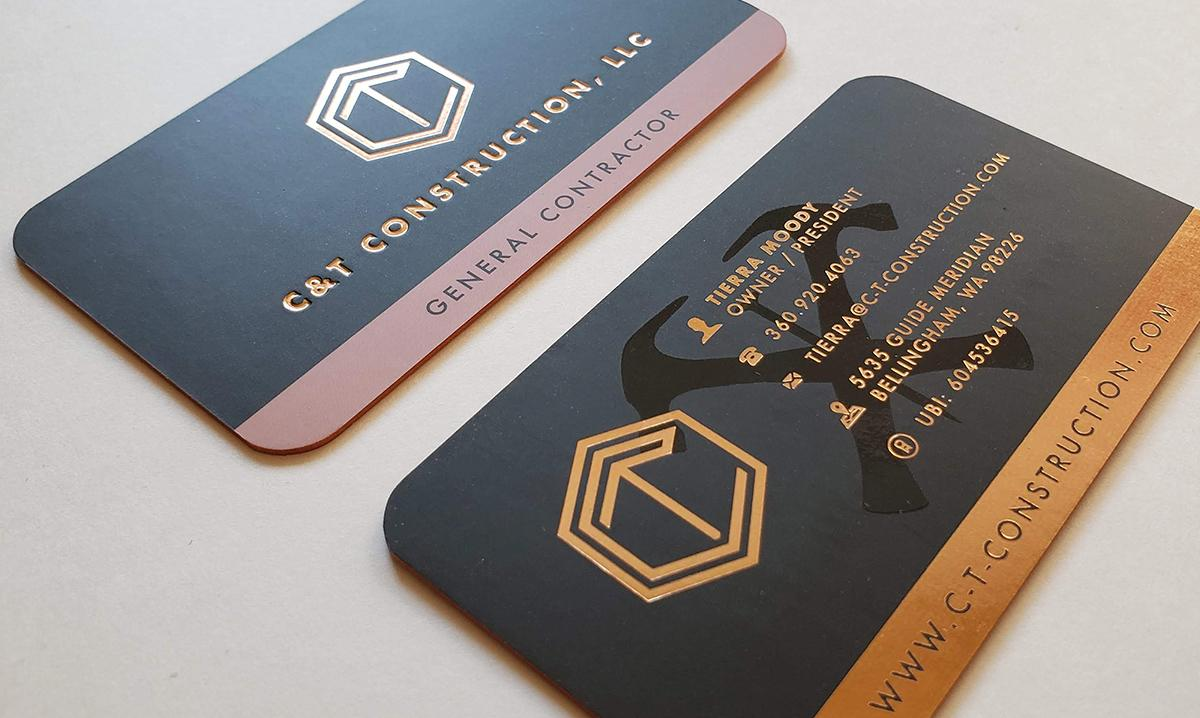 C&T Construction Business Cards