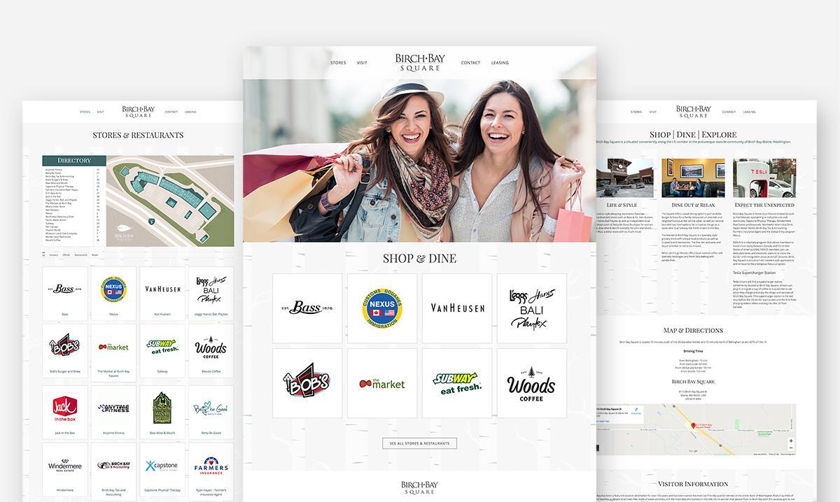 Birch Bay Square Website Design and Development