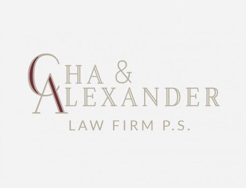 Cha & Alexander Law Firm, P.S. Logo Design