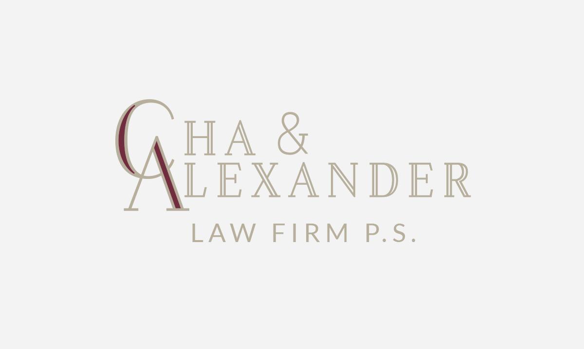 Cha & Alexander logo design